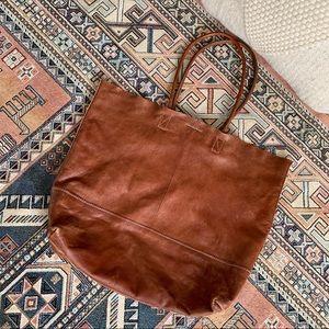 Banana Republic Boho Brown Leather Tote